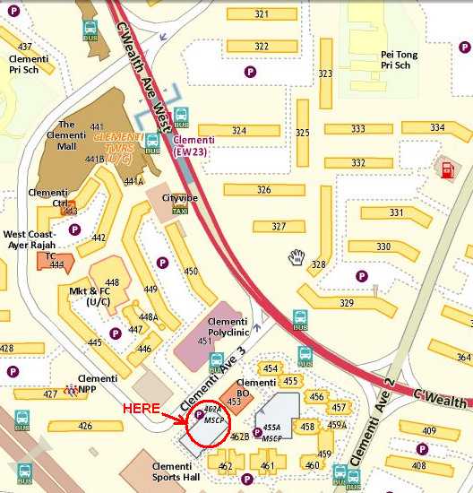 Map of Clementi Ave 3